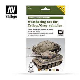 Weathering For Yellow/Grey Vehicles 6X8Ml+10Ml