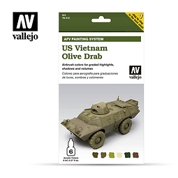 Set Us Vietnam Olive Drab 6X8Ml
