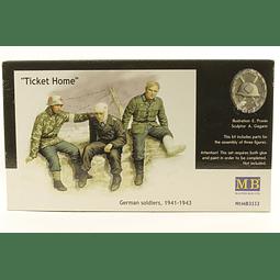 """Soldados alemanes """"Ticket Home"""" 1/35"""