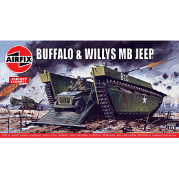 Modelo para armar Buffalo (Lvt-4) & Willys Jeep Escala 1/76