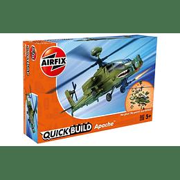 Helicoptero para armar Apache Quickbuild Airfix