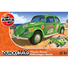 Automovil para armar Quickbuild Volkswagen Beetle ( Escarabajo ) Flower Power
