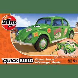 Automovil para armar Quickbuild Volkswagen Beetle ( Escarabajo ) Flower Power