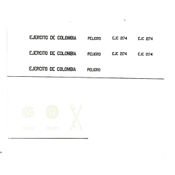 Calcomanías  helicóptero Black Hawk Ejercito Colombiano 1/72