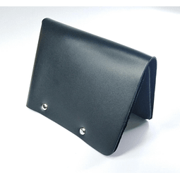 Billetera Sin Costura Doble Negra