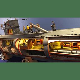 Submarino 1:48 Para Armar Dkm U-Boat Type Viic U-552