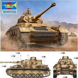 Tanque 1:16 Para Armar German Pzkpfw Iv Ausf.F2 Medium Tank