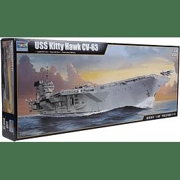 Barco 1:350 Para Armar Kitty Hawk Cv-63