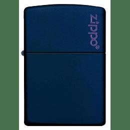 Encendedor Zippo Azul Marino Con Logo