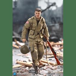 Figura Colección Wwii Soldado Ryan Airbone Division / Mat Damon Esc 1:12