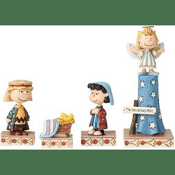 Figura Colección  Conjunto de desfile de Navidad n. ° 1 Cacahuetes de Jim Shore