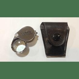 Lupa de bolsillo en metal 20X