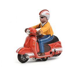 Moto Cuerda vintage Scooter - Charly, Rot