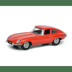 Carro Colección Jaguar E Type Coupé Red 1/64