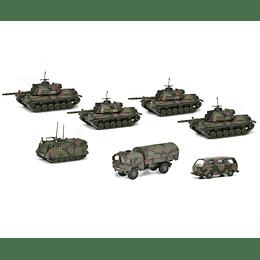 "Set Tanques Colección Tank companie ""Bundeswehr"", camouflaged, 1/87"