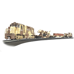Set Tren militar Eléctrico Strike Force 1/87 H0