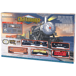 "Set Tren Eléctrico locomotora vapor ""Chattanooga"" 1/87 H0"