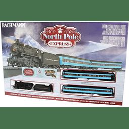 Set Tren Eléctrico navideño North pole express 1/87 H0