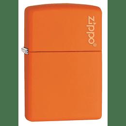 Encendedor Naranja Mate Con Logo