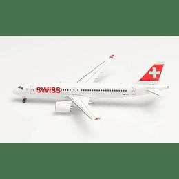 "Avión Colección Swiss International Air Lines Airbus A220-300 ""Winterthur"" 1/400"