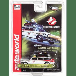 Carro Slot Pista 1/64 H0 Autoworld Cadillac Caza Fantasmas