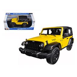 Carro Colección  2014 Jeep Wrangler Willys Ye 1/18