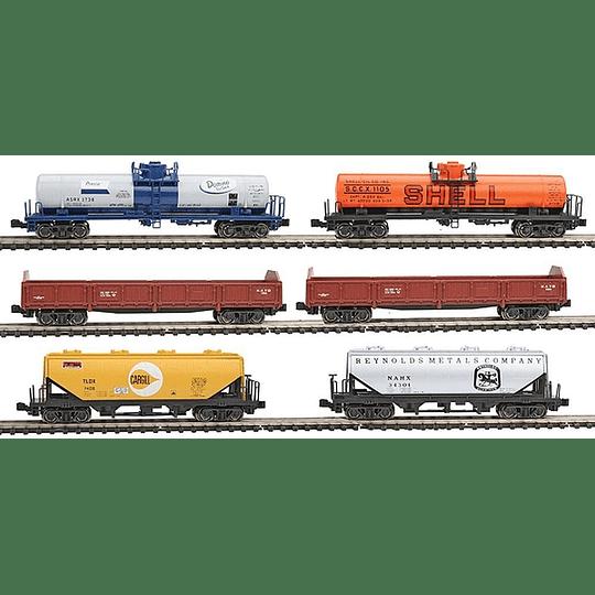 Set de vagones de carga escala N 1/160