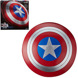 Figura Colección Marvel Legends Avengers Falcon and Winter Soldier Captain America Shield Prop Replica