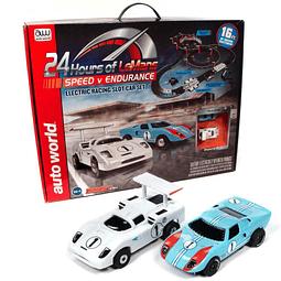 Pista Auto World SRS333 24 Hours of Le Mans Speed V Endurance 16' HO Slot Race Set