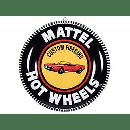 "12"" Lámina  decorativa Hot Wheels Firebird edición limitada"