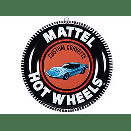 """12 """" Lámina decorativa Hot Wheels Corvette edición limitada"""
