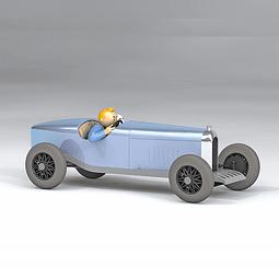 Carro Colección  1/24Th #09 - The Blue Amilcar Tintín con urna
