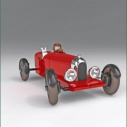 Carro Colección 1/24  #38 - The Red Amilcar Tintin con urna