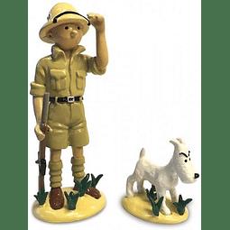 Figura Colección Tintin y Milu en el Congo 46523 (2018) en metal