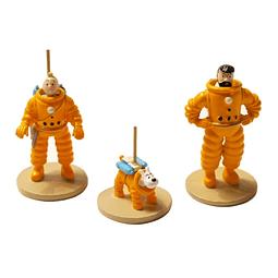 Figura Colección  Set Tintín, Haddock Y Milú en metal