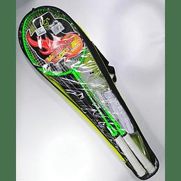 Raquetas Badminton Set x 2 unidades / 3 Gallitos / Malla y parales