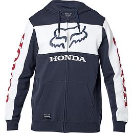 Buzo Honda Zip Fleece Navy/White Talla S
