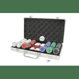 Juego de Mesa Maletin 300 Fichas Poker