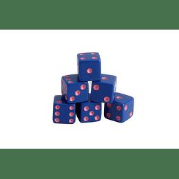 Juego de Mesa Dado Azul Con Pepitas Rosas