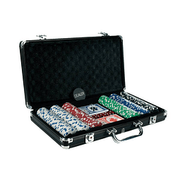 Juego de Mesa 300 Pc Dice Chip Black Poker Set