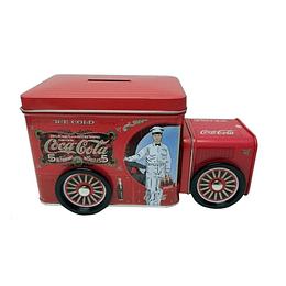 Alcancía Coca-Cola Replica Truck With Wheels