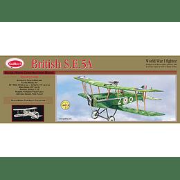 Para armar madera Avion British Se 5-A 1/12