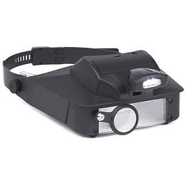 Visor para cabeza con LED iluminada (2x/3x/5x/6x)