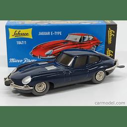 Carro cuerda  latón vintage  Micro Racer Jaguar E-Type Azul