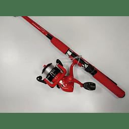 Vara Flounder Combo Spin 1.8M Rojo
