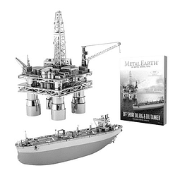 Para armar Offshore Oil Rig And Oil Tanker Met
