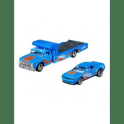 Carro Colección  team transport Dodge Challlenger + Retro Rig 1/64