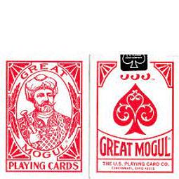 Juego de Mesa Great Mogul Playing Cards Red