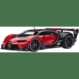 Carro Colección AUTOart Bugatti Vision GT 2015 Rojo / Negro Carbone 1/18