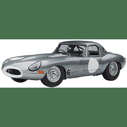 Carro Colección Silver Jaguar Lightweight E-Type 73646 AUTOart  1/18